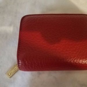 COACH VINTAGE SONOMA RED PEBBLE LEATHER WALLET.